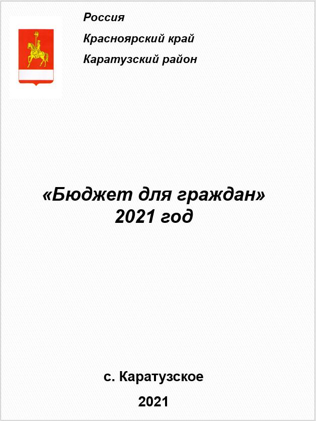 БЮДЖЕТ ДЛЯ ГРАЖДАН НА 2021 ГОД